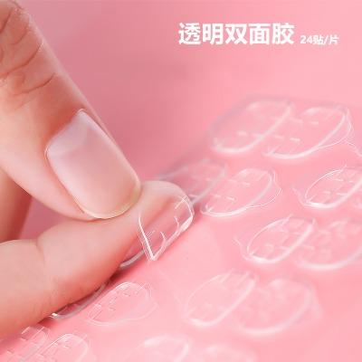 美甲粘钻果冻胶10粒透明无痕贴钻专用双面胶穿戴甲防水可拆水晶胶