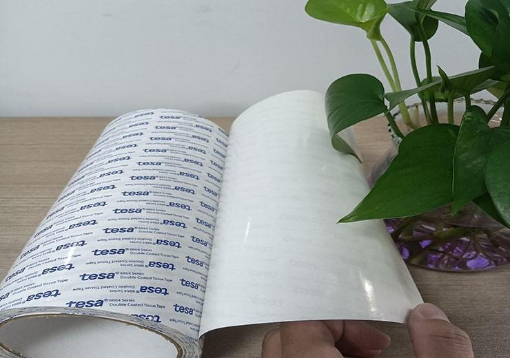 0.1MM厚TESA88641棉纸无纺布双面胶零部件装饰件泡棉粘接